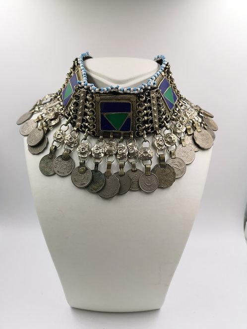 Afghan choker old Kutchi Necklace