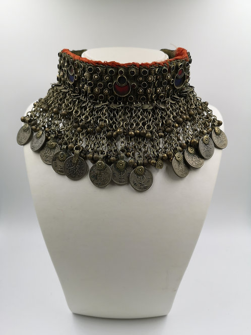 Afghan choker old Kutchi Necklace