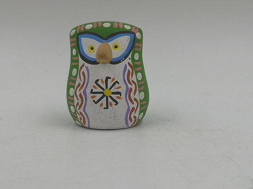 Green terracotta owl