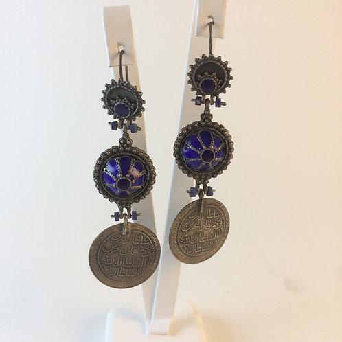 Ottoman Harem style 925k Silver Earring set