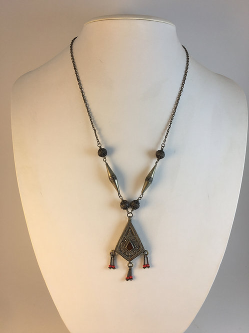 Afghan Kazakh Silver Necklace