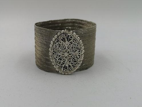 Trabzon woven silver bracelet