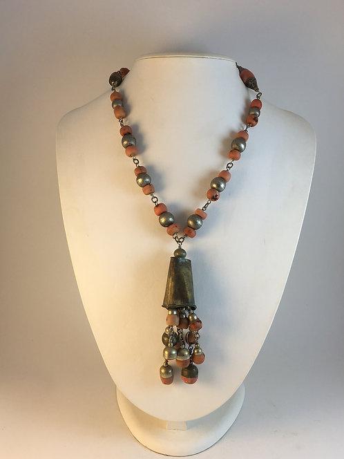 Rock Coral Silver Necklace