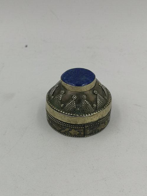 Lapis Lazuli turcoman silver box