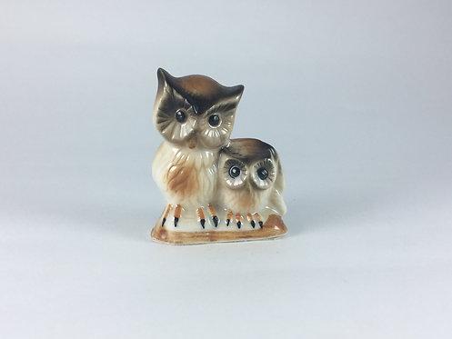 Mother&Child Porcelain Owl