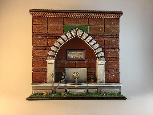 Brick Wall Ottoman Fountain