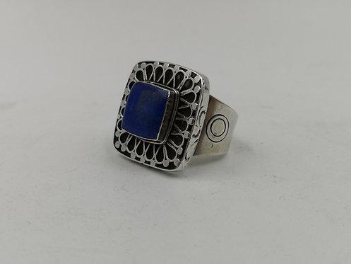 Afghan lapis Lazuli silver ring