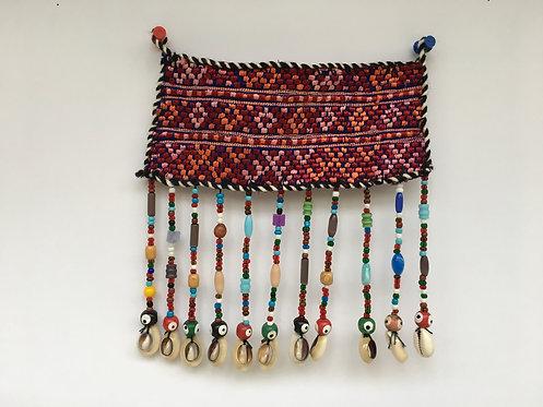 Turcoman Nazarlyk Embroidered Beaded Small Hanging