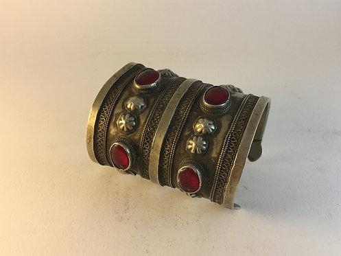 Afghan Kutchi Turcoman Alpaka Bracelet