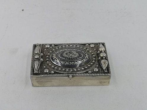 Ottoman niellow 925k Silver box