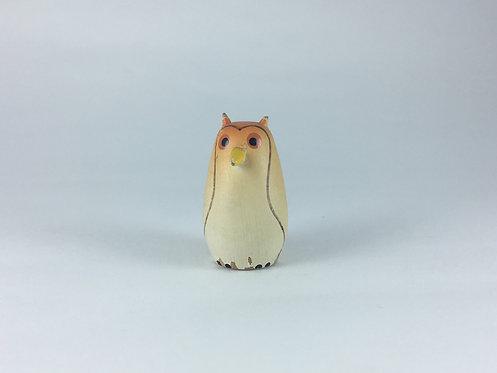 Painted Wood Mini Owl
