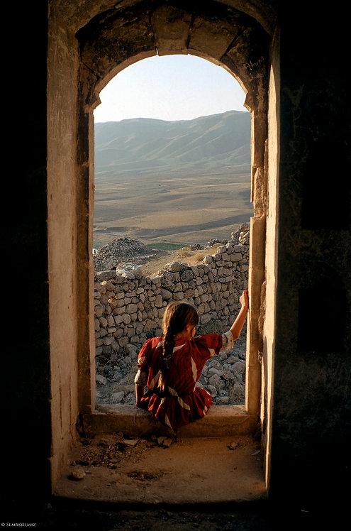 Girl Looking Out Window, Hasankeyf