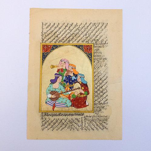 Ottoman Women Musicians Miniature