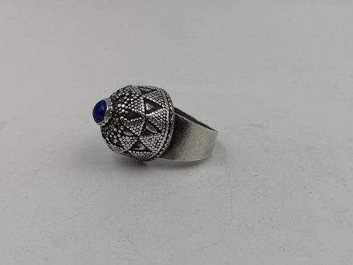 Afghan Kazakh lapis Lazuli silver ring
