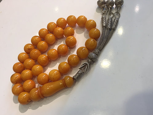 New Made Ottoman Katalin Bakelite Amber Prayer Bead