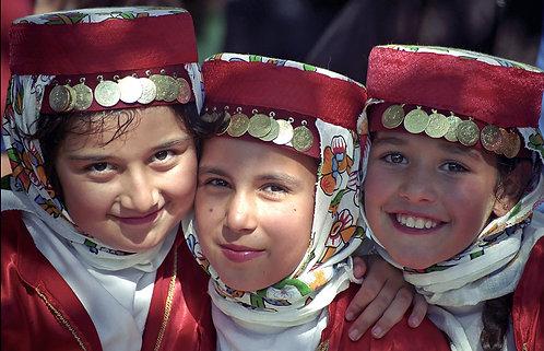3 Folk Dancing Girls