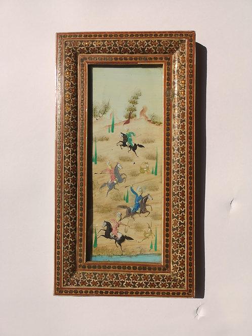 Iranian Bone Miniature Painting