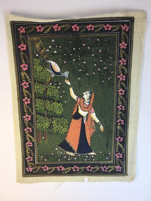 Indian Miniature Painting on Silk