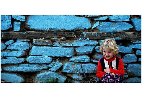 Blue wall child, Bursa
