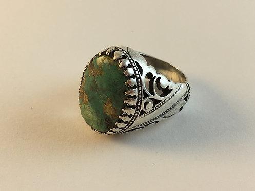 Turquoise 925k Silver Men's Ring