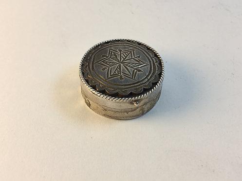 Ottoman Silver Pill Box