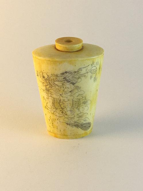 1890s Chinese Bone Perfume Bottle