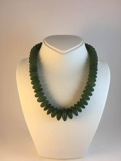 Hand Cut Afghan Jade Necklace