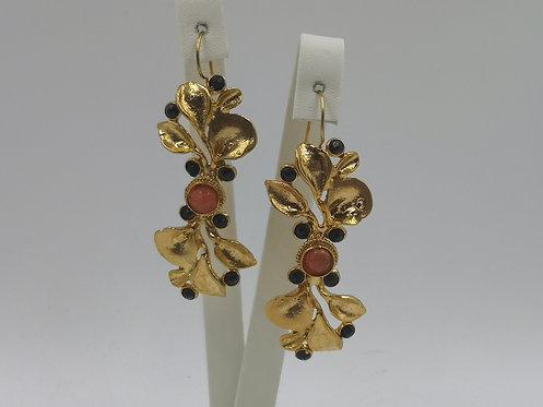 24k gold plated Bronze Earrings