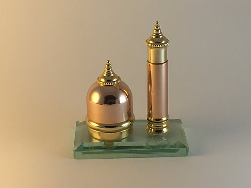 Two Fragrance Copper Perfume Bottle