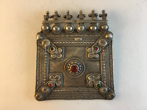 Afghan Kutchi Old Silver Large Pendant