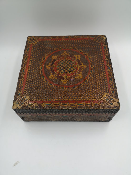 Turkish wooden carved box