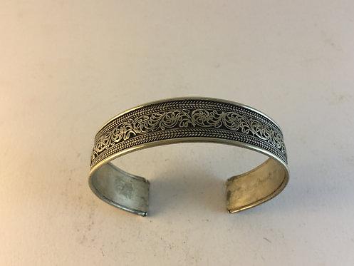 Rajasthan White Metal Filigree Bracelet