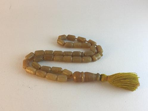Afghan Brown Jade Old Prayer Bead