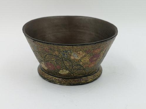 Kashmir 1800s hand painted bowl