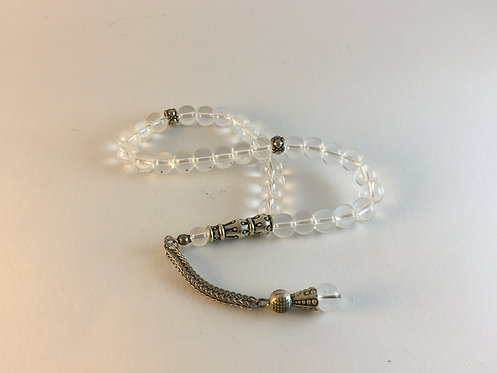 Clear Quartz Prayer Bead