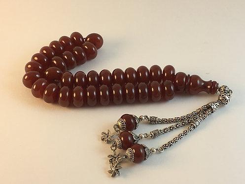 Bakelite Amber Cherry Old Prayer Bead
