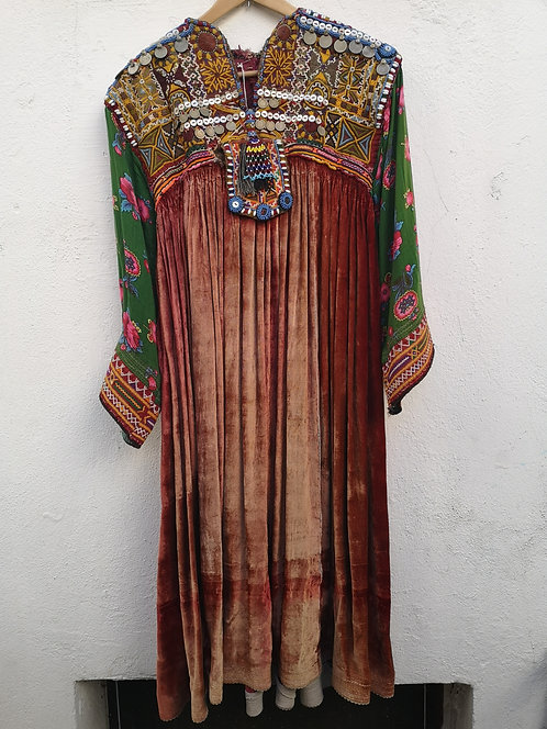 Afghan kutchi velvet dress