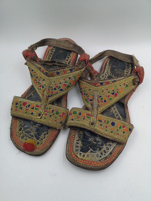 Afghan old leather sandals