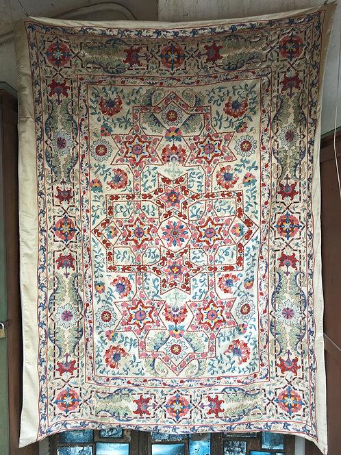 Silk Hand Embroidered Fine Crochet Work Suzani