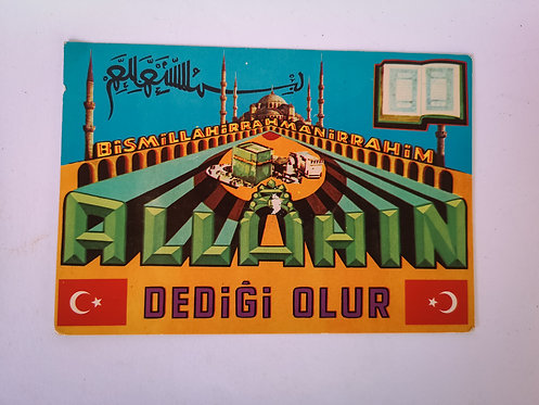 Turkish Calligraphy Postcard