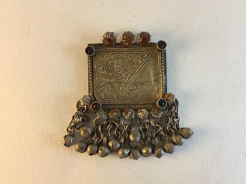 Afghan Kutchi Silver Gold Ethnic Pendant