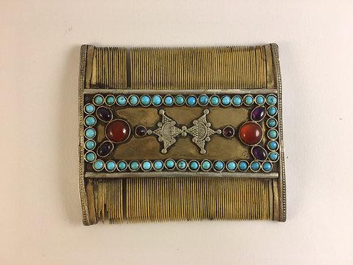 Afghan Fine Silver Bone Comb