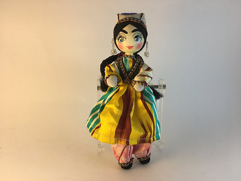 Uzbek Hand Made Traditional Mini Girl Doll