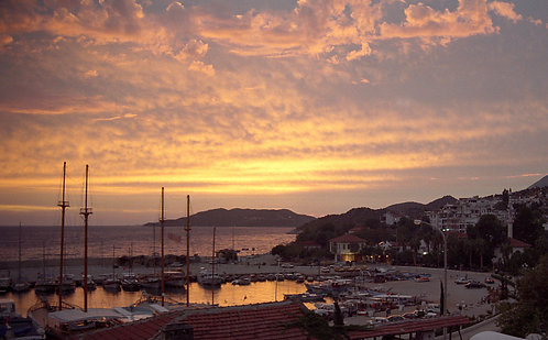 Sunset Over The Marina Kaş