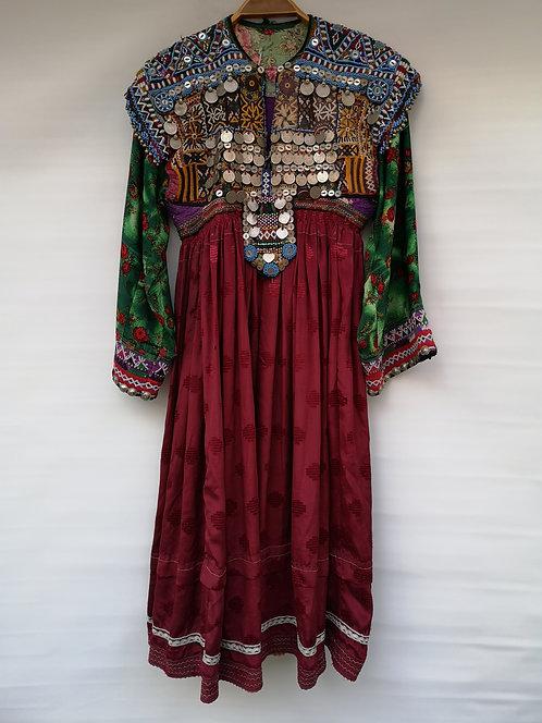Afghan kutchi dress with coins
