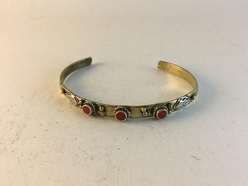 3 Mini Stone White Metal Bracelet