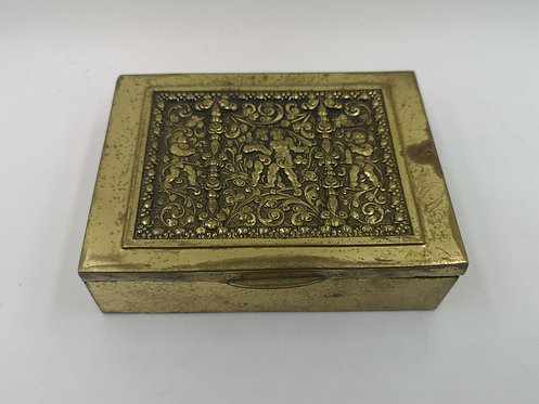 Brass relief cigarette box