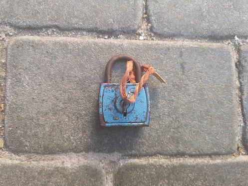 Blue Square padlock