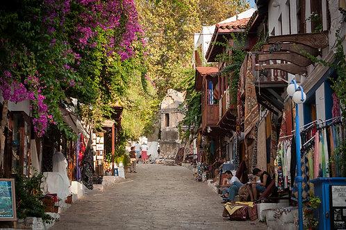 Kaş Famous Uzunçarşı street