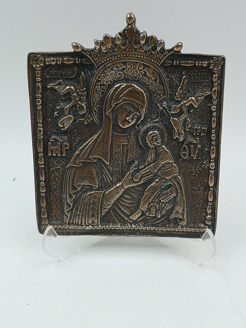 Bronze Christian icon